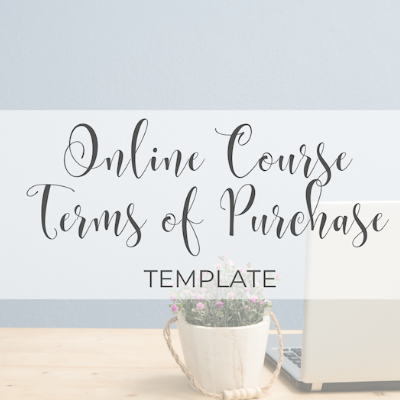 Online Course Terms of Purchase Template